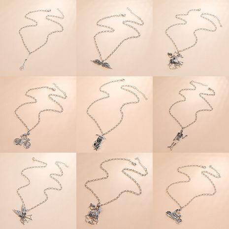 Fashion new   skull necklace simple retro  creative exaggerated geometric necklace NHKQ254507's discount tags