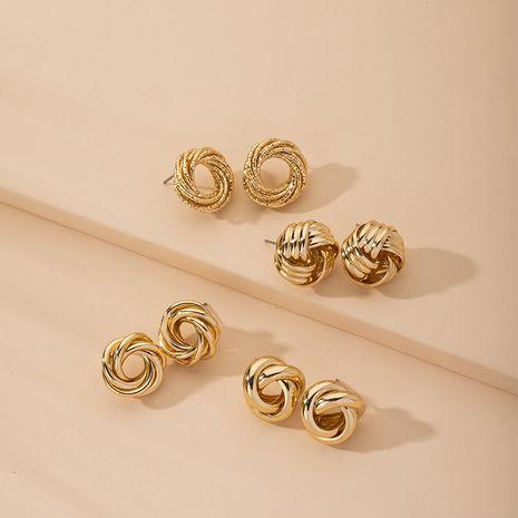 new retro exaggerated fashion geometric circle metal earrings for women NHAI254512's discount tags