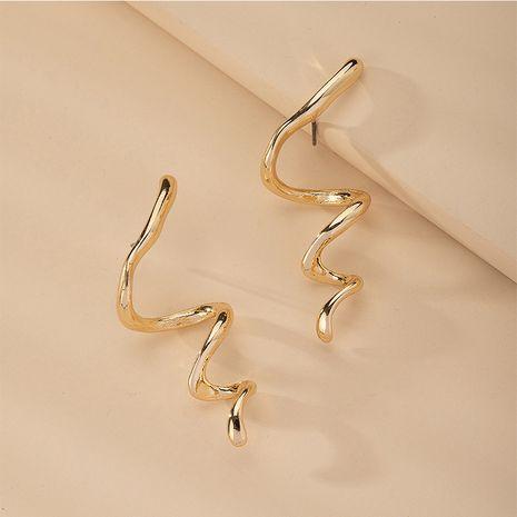 simples pendientes de metal populares en forma de serpiente joyería de moda coreana al por mayor NHAI254510's discount tags