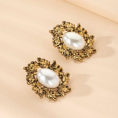 Boucles d'oreilles en alliage classique de perle géométrique rétro exagérée de mode pour les femmes NHAI254509's discount tags