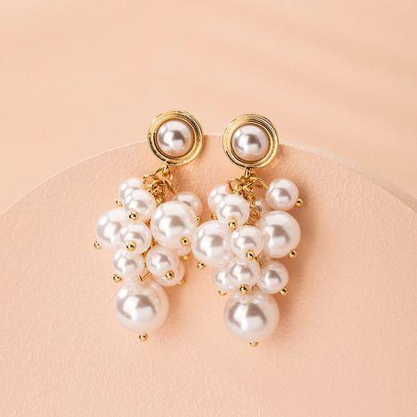 Boucles d'oreilles en alliage simple de perles de mode coréenne pour les femmes en gros NHAI254517's discount tags