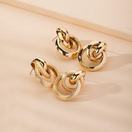 Fashion exaggerated geometric retro fashion simple metal earrings for women NHAI254527's discount tags