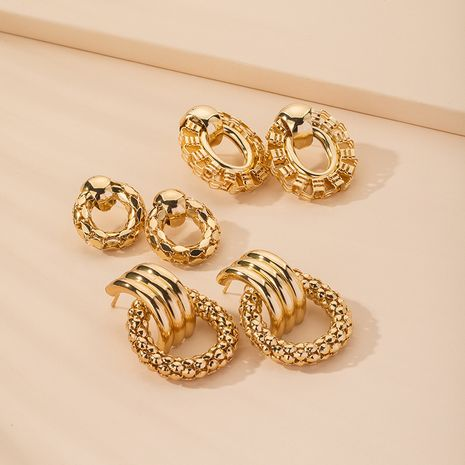 new exaggerated retro fashion popular geometric creative earrings wholesale  NHAI254528's discount tags