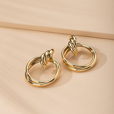 Fashion geometric exaggerated women's simple alloy earrings  wholesale NHAI254531's discount tags