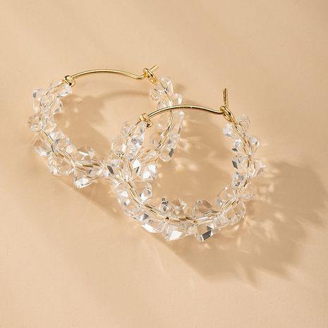 Nouvelles boucles d'oreilles en cristal de mode en gros NHAI254538's discount tags
