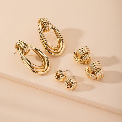 nuevos pendientes geométricos de múltiples capas de moda para mujeres al por mayor NHAI254535's discount tags