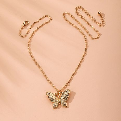 Luxury butterfly simple fashion necklace wholesale NHAI254542's discount tags