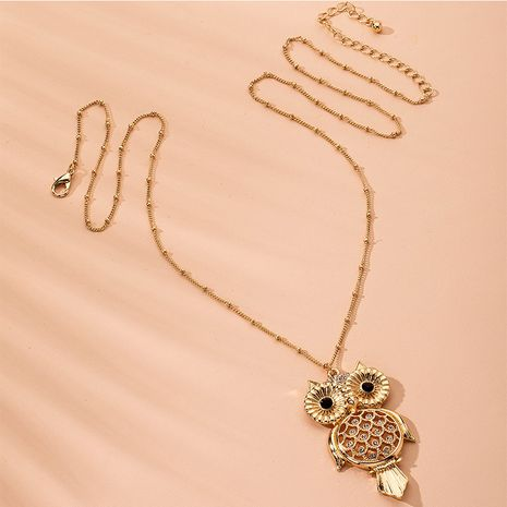 Fashion high-quality  zodiac owl pendant long sweater chain necklace NHAI254555's discount tags