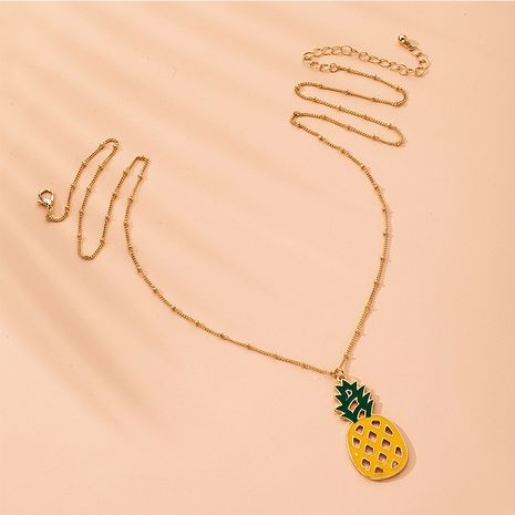New necklace fruit pineapple clavicle chain   decoration wholesale  NHAI254559's discount tags