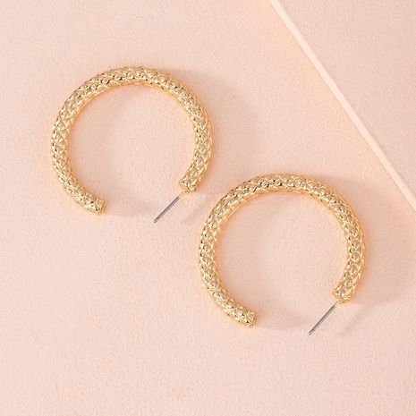 Korean new circle alloy earrings for women hot-saling wholesale NHAI254558's discount tags