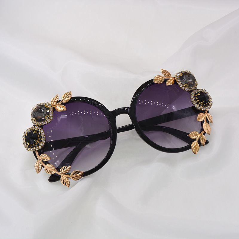 new trendy Korean ladies diamond crystal sunglasses wholesale NHNT254564
