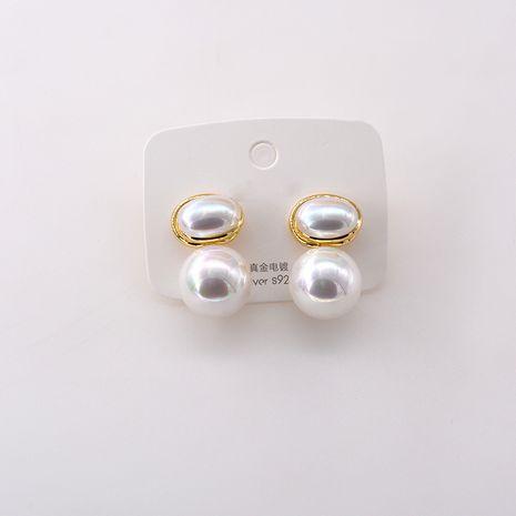 Élégantes boucles d'oreilles en perles cloutées de diamants Boucles d'oreilles simples coréennes en gros NHNT254569's discount tags