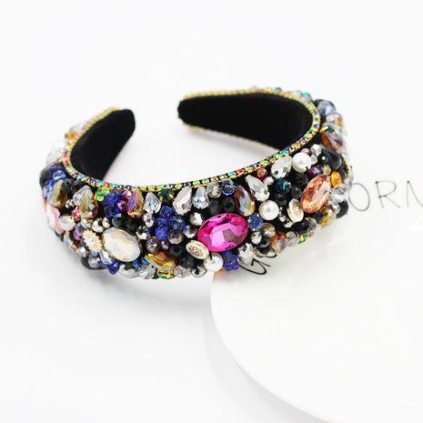 New  crystal gemstone handmade exaggerated ladies' headband NHWJ254588's discount tags