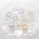 twisted knotted ring set index finger ring plain ring 8piece set wholesale NHMS254611
