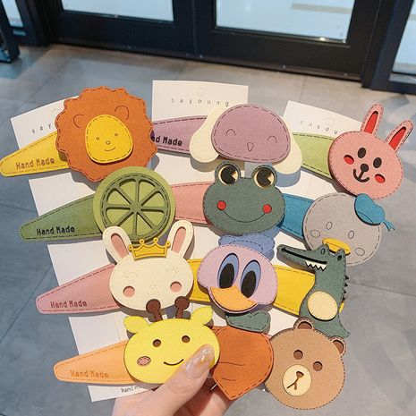 Korea new cartoon broken hair dinosaur bear hairpin girl clip wholesale NHCQ254619's discount tags