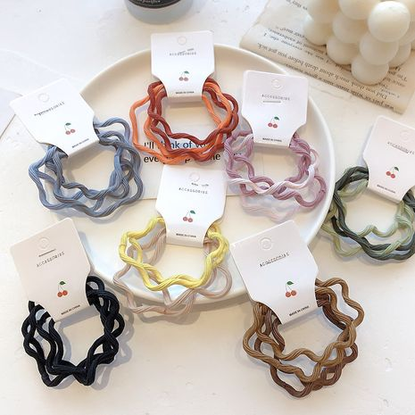 new rice candy color wave hair rope tie hair rubber band hair ring wholesale NHCQ254628's discount tags