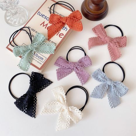 hollow big bow hair rope simple back head clip wholesale NHCQ254629's discount tags