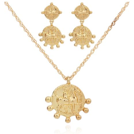 Fashion pendant earrings necklace set  NHRN254701's discount tags