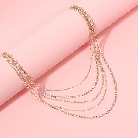 Mode ethnique simple collier multicouche chaîne courte clavicule NHRN254704's discount tags