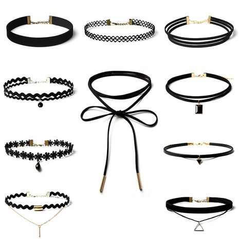 Fashion Gothic Lolita choker collar necklace set  NHRN254719's discount tags