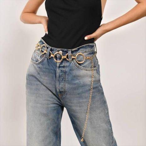 hot-saling fashion ethnic style ladies geometric circle metal chain waist chain NHRN254720's discount tags