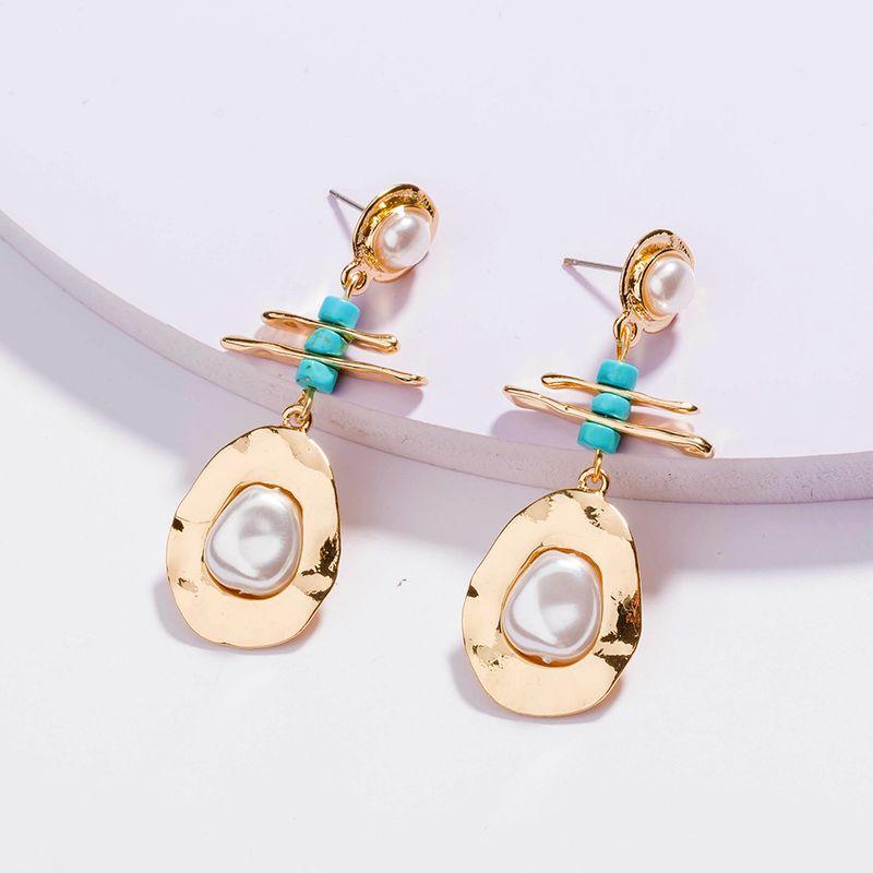 creative fashion original design baroque pearl drop earrings wholesale  NHAN254730