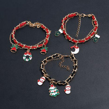 Cloches de guirlande de Noël Bracelet double chaîne en daim rouge en gros NHLL254732's discount tags