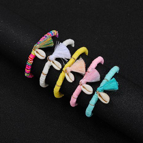 Bracelet à pampilles à la mode ethnique Bracelet en argile souple de couleur all-match NHLL254734's discount tags