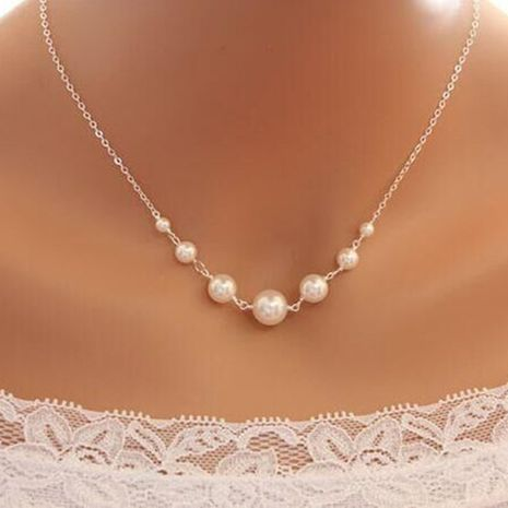 New retro artificial pearl necklace creative alloy necklace wholesale NHYI254747's discount tags