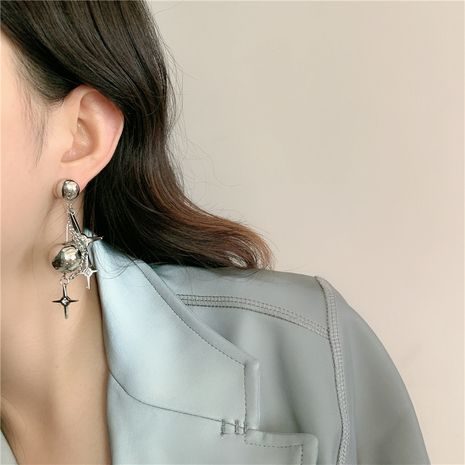Metall Silber Markise Stern Stern Kreuz Runde Kugel Quaste Ohrringe Großhandel NHYQ254767's discount tags