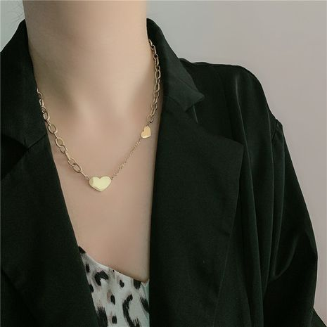 Retro necklace love pendant sweet necklace NHYQ254768's discount tags