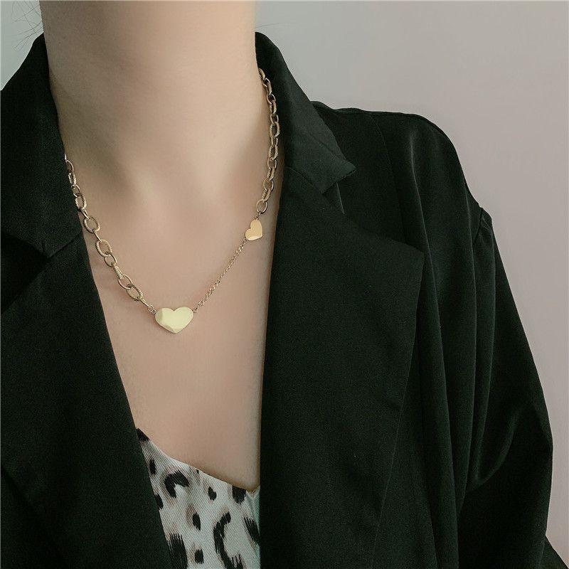 Retro necklace love pendant sweet necklace NHYQ254768