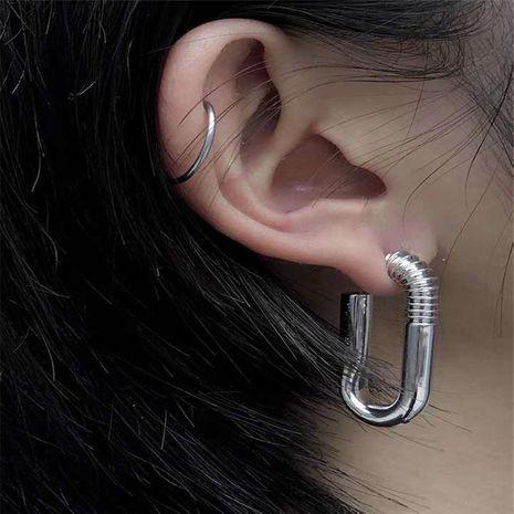 Conception coréenne simple et à la mode boucles d'oreilles en forme de tige de vis en métal en gros NHYQ254772's discount tags