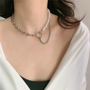 Fashion snake head star pearl chain stitching short clavicle chain necklace  NHYQ254776