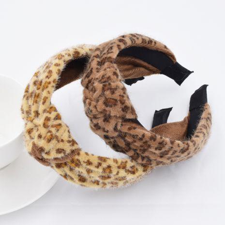 Otoño nueva diadema con estampado de leopardo de visón coreano con estampado de felpa para mujer NHCL254779's discount tags