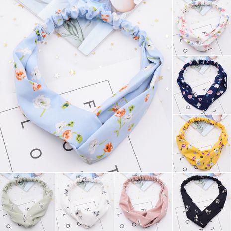 Diadema de yoga de lavado de cara con cruz de rayas florales pequeñas coreanas para mujer NHCL254784's discount tags
