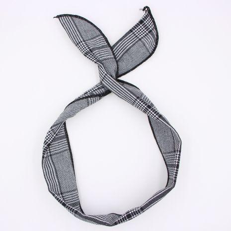 Diadema de alambre de orejas de conejo con variedad de bowknot de rayas retro casual para mujer NHCL254813's discount tags