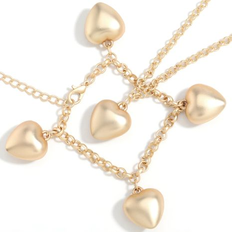 Fashion alloy  love heart-shaped resin pendant bracelet necklace  NHJE254821's discount tags