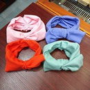 Korean knitted big butterfly solid color elastic  wool rabbit ears hair band  NHUX254834