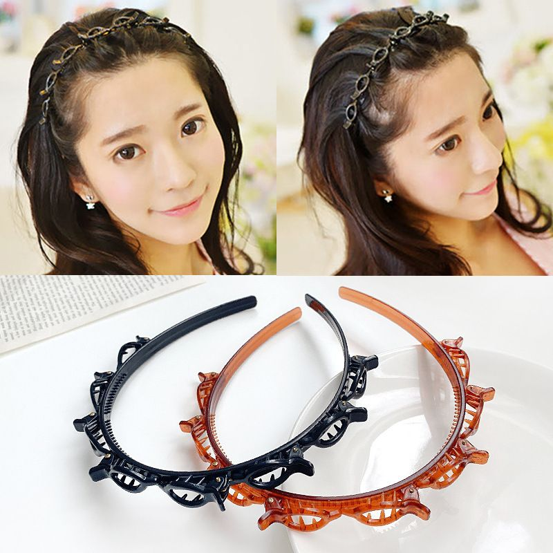 Fashion multi-layer hollow woven Korean ladies beam pressure hair small fish headband NHUX254843
