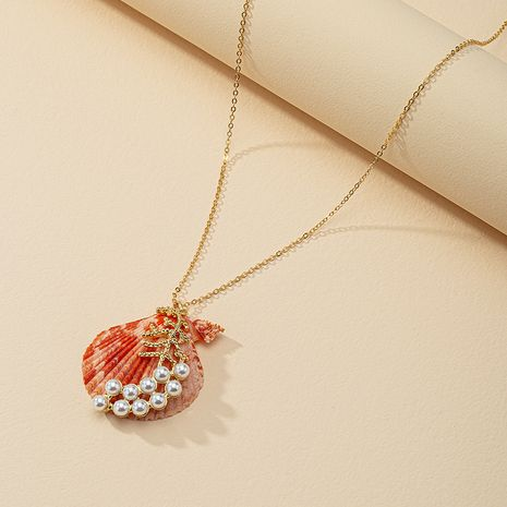 Fashion shell pearl necklace wholesale NHGU254868's discount tags