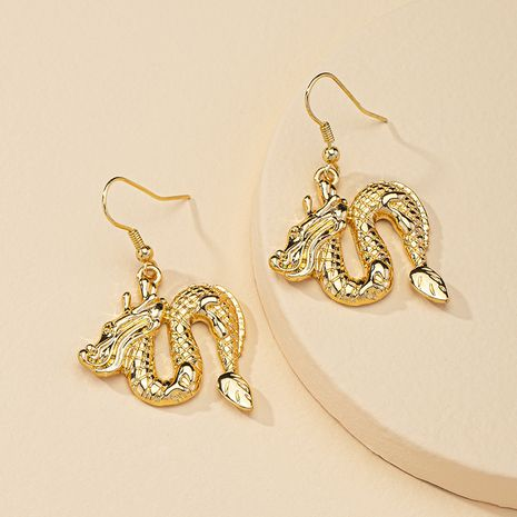 fashion 1 pair of metal dragon shape hot selling earrings wholesale  NHGU254873's discount tags