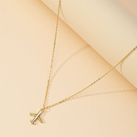 Hot selling cute airplane pendant necklace wholesale NHGU254886's discount tags