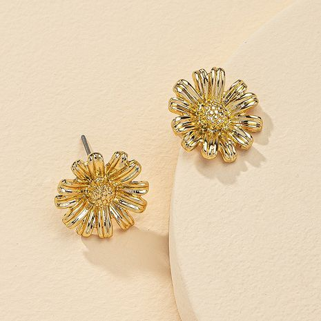 Fashion 1 Pair of Metal Flower Earrings Hot Selling wholesale  NHGU254894's discount tags