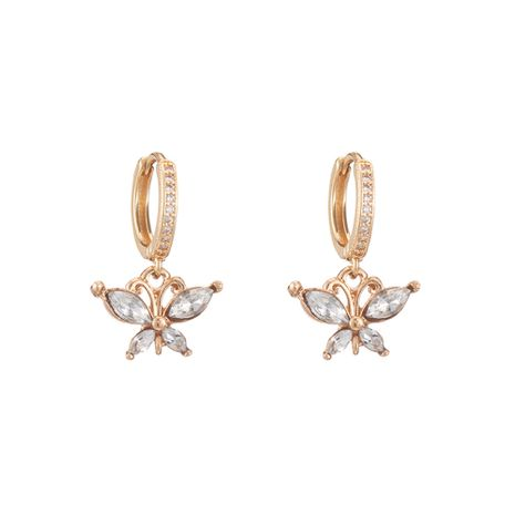 simple alloy butterfly earrings  wholesale  NHOA254956's discount tags