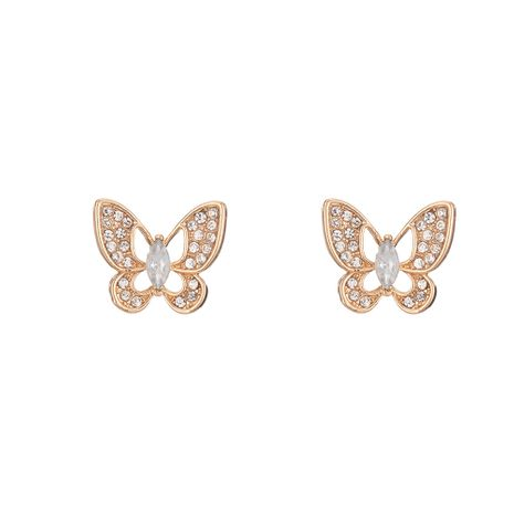 Hot selling simple diamond butterfly earrings wholesale NHOA254961's discount tags