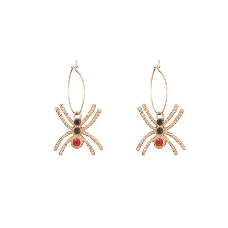 new Halloween  alloy spider diamond insect earrings wholesale  NHOA254965's discount tags