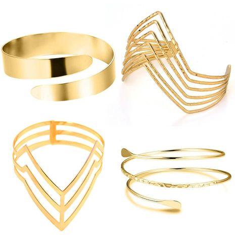 vente chaude métal lisse bracelet géométrique triangle creux bras anneau ensemble en gros NHOA254970's discount tags