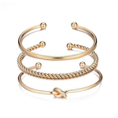 vente chaude simple bracelet torsadé géométrique noué ensemble de trois pièces en gros NHOA254971's discount tags