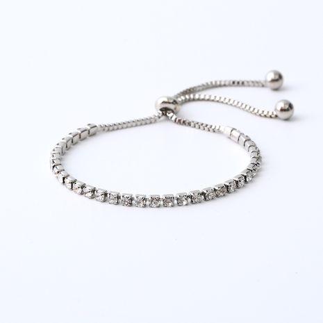 Hot selling simple diamond bracelet adjustable wholesale NHOA254975's discount tags